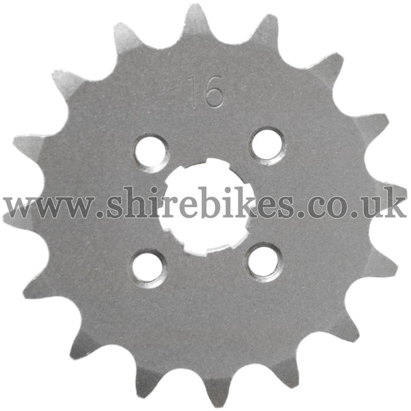 16T Front Sprocket suitable for use with CZ100, Z50M, Z50A, Z50J1, Z50R, Z50J, Dax 6V, Dax 12V, Chaly 6V, C90E