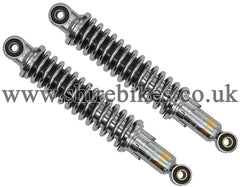 305mm Adjustable Oil Damped Chrome Shock Absorbers (Pair) suitable for use with Z50R, Z50J1, Z50J, Dax 6V, Dax 12V, Chaly 6V