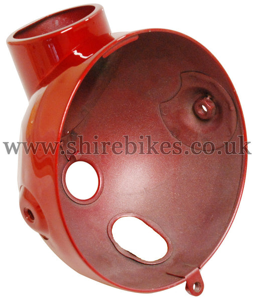 Reproduction Metallic Red Metal Head Light Bowl suitable for use with Z50J1