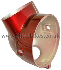 Reproduction Metallic Red Headlight Bowl suitable for use with Dax 6V, Chaly 6V