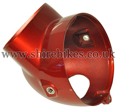 Honda Red Plastic Head Light Bowl suitable for use with Dax 6V, Chaly 6V