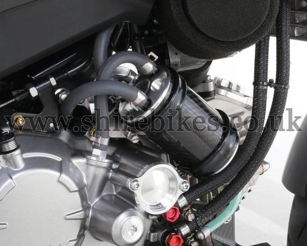 Kitaco Silver Carbon Oil Catch Tank Kit suitable for use with MSX125 GROM, Monkey 125