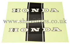 Honda Black Frame Stickers (Pair) suitable for use with Dax 6V