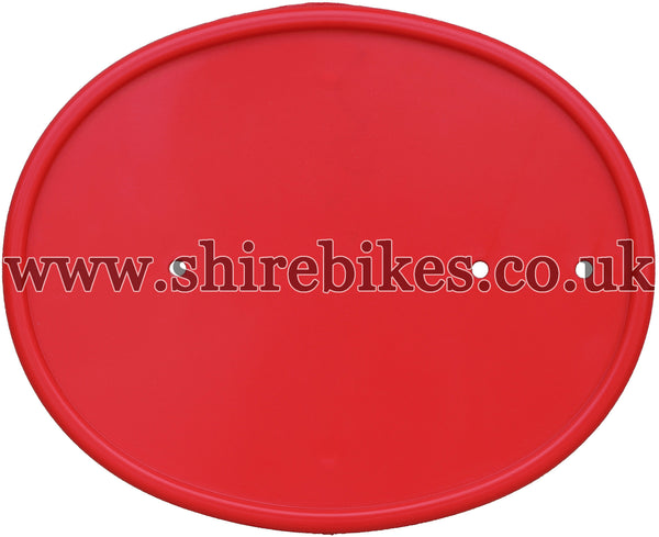 Reproduction Red Number Plate suitable for use with Z50R