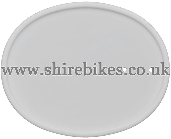 Reproduction White Number Plate suitable for use with Z50R