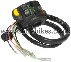 Universal Left Hand Switchgear suitable for use with Monkey Bike Motorcycles