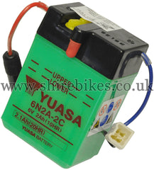 Yuasa 6N2A-2C 6V Battery (Acid not included) suitable for use with Z50J1, Dax 6V