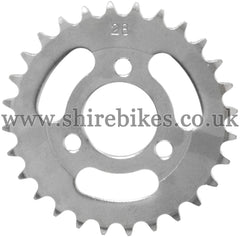 28T Rear Sprocket suitable for use with CZ100, Z50M, Z50A, Z50J1, Z50J, Z50R & Chinese Copies