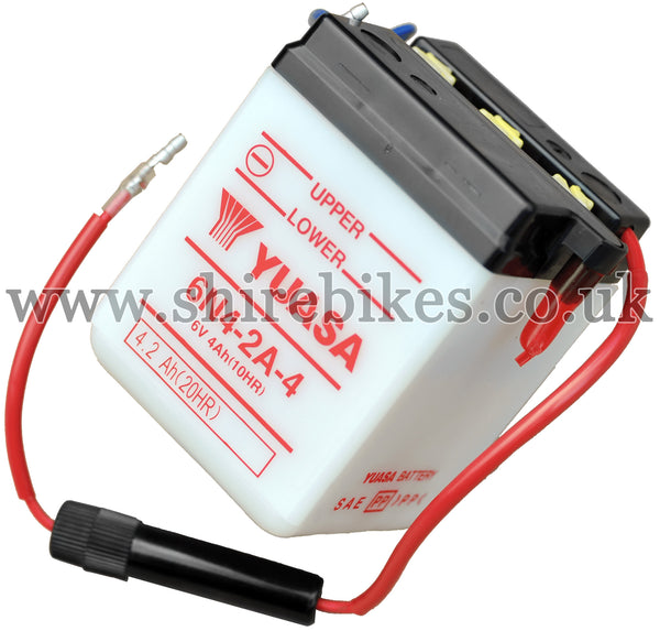 Yuasa 6N4-2A-4 6V Battery (Acid not included) suitable for use with Chaly 6V