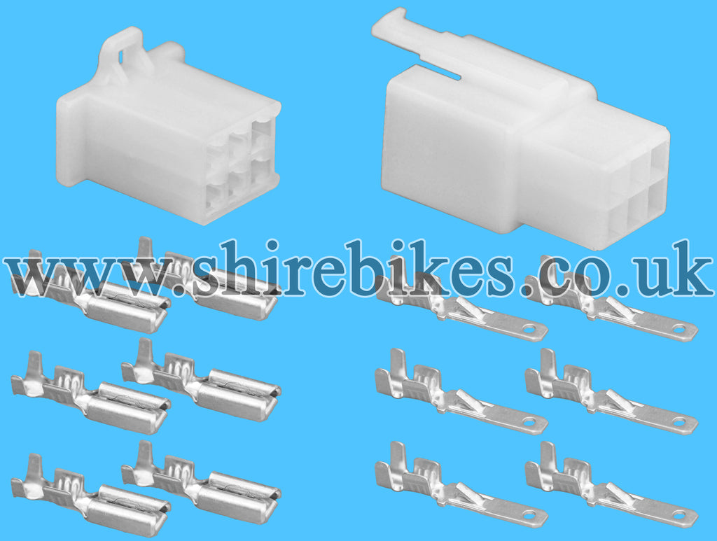 6 pin block wiring loom harness connector plug shire bikes parts rh shirebikes co uk Car Wiring Harness Car Stereo Wiring Harness