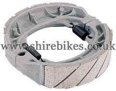 Kitaco Racing Brake Shoes suitable for use with CZ100, Z50M, Z50A, Z50J1, Z50J, Dax 6V, Dax 12V, Chaly 6V, C90E & Chinese Copies
