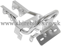 Custom Chrome Grab Bar & Lighting Mounts suitable for use with Monkey Bike Motorcycles