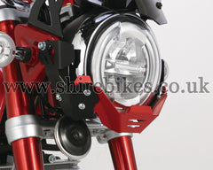 Kitaco Red/Black Head Light Guard Kit suitable for use with Monkey 125