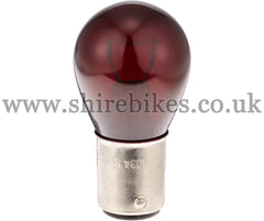 Kitaco 12V Red Glass Rear/Brake Light Bulb suitable for use with Z50J 12V