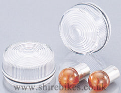 Kitaco Clear Indicator Lens & 12V Bulbs (Pair) suitable for use with Z50J
