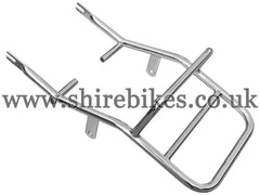 Aftermarket Chrome Rear Rack suitable for use with Dax 12V