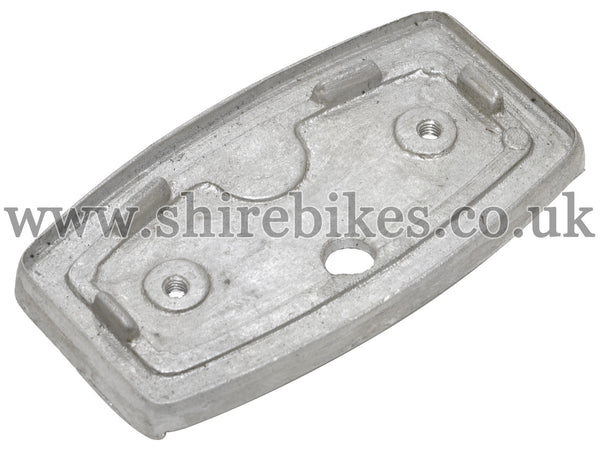 Reproduction Aluminium Rear Light Back Plate suitable for use with CZ100