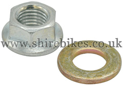 Honda Magneto Flywheel Securing Nut & Washer suitable for us with Z50R (87-99), Z50J 12V, Dax 12V, C90E