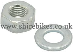 Honda Magneto Flywheel Securing Nut & Washer suitable for us with Z50M, Z50A, Z50J1, Z50R (79-86), Dax 6V, Chaly 6V
