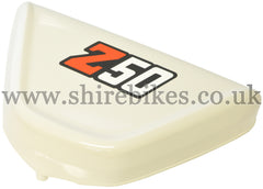 Honda *IMPERFECT* White Side Cover suitable for use with Z50J1