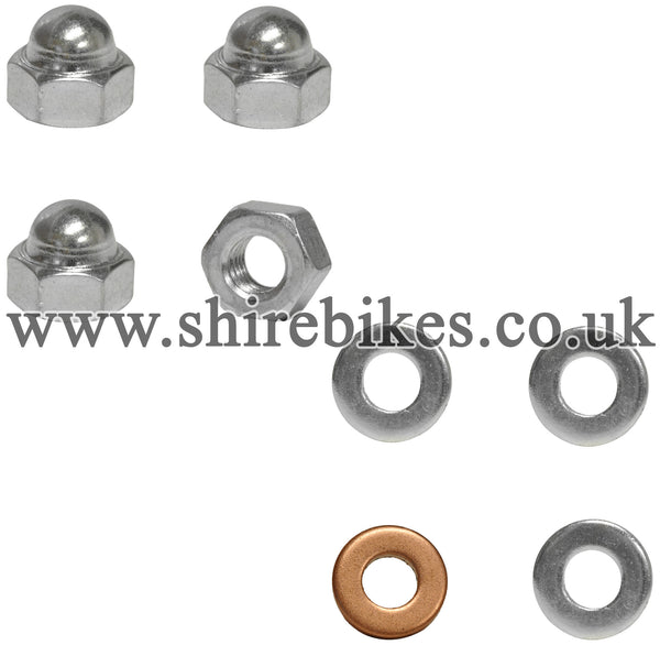 Honda Cylinder Head Nut & Washer Set suitable for use with Z50M, Z50A, Z50J, Z50R, Dax 6V, Chaly 6V, Dax 12V, C90E