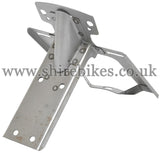 Reproduction Bare Metal Rear Number Plate & Light Bracket suitable for use with Z50M