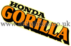 Honda Gorilla Tank Sticker suitable for use with Z50J