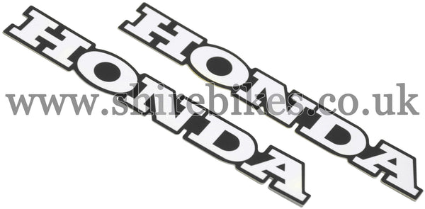 Honda Frame Emblems Stickers (Pair) suitable for use with Chaly 6V