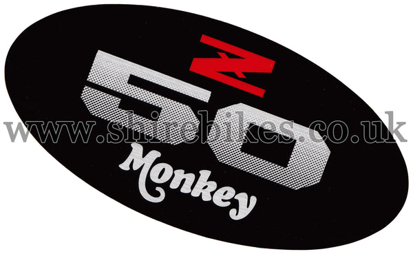 Honda Black 2 Side Cover Sticker suitable for use with Monkey Bike Motorcycles