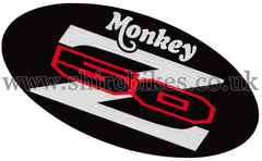 Honda Black 3 Side Cover Sticker suitable for use with Monkey Bike Motorcycles