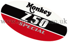Honda CBX400 Side Cover Sticker suitable for use with Monkey Bike Motorcycles