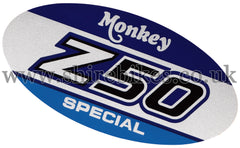 Honda Freddie Side Cover Sticker suitable for use with Monkey Bike Motorcycles