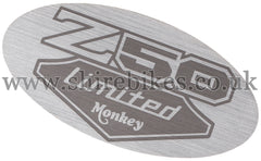 Honda Chrome Side Cover Sticker suitable for use with Monkey Bike Motorcycles