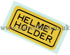 Honda Helmet Holder Sticker suitable for use with Dax 6V, Chaly 6V, Dax 12V