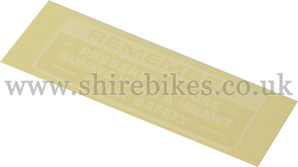 Honda White Preserve Nature Sticker suitable for use with Z50A, Dax 6V, Chaly 6V