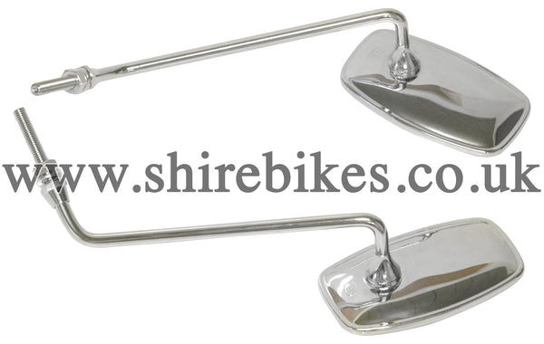 Honda Chrome Mirrors (Pair) suitable for use with Z50M