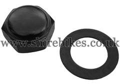 Honda Black Steering Stem Top Nut & Washer suitable for use with Z50J