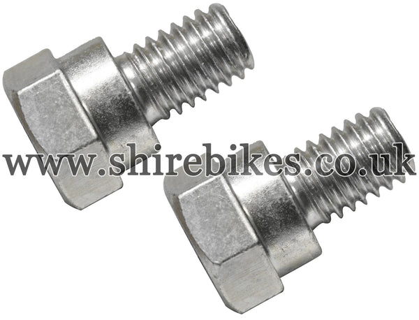 Honda Front Sprocket Bolts (Pair) suitable for use with Z50M, Z50A, Z50J1, Z50R, Z50J, Dax 6V, Dax 12V, Chaly 6V, C90E