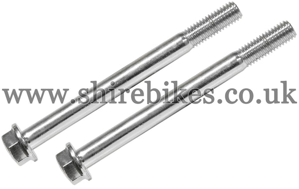 Honda Chrome Grab Bar/Rear Rack Bolts (Pair) suitable for use with Dax 6V, Dax 12V
