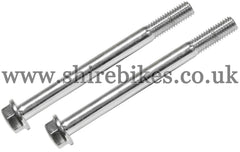Honda Chrome Grab Bar/Rear Rack Bolts (Pair) suitable for use with Dax 12V