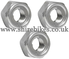 Honda 8mm Rear Sprocket Locking Nuts (Set of 3) suitable for use with Z50R, Z50J1, Z50J