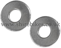 Honda 10mm Chrome Top Fork Bolt Washers (Pair) suitable for use with Z50R, Z50J1, Z50J, Chaly 6V, Dax 12V