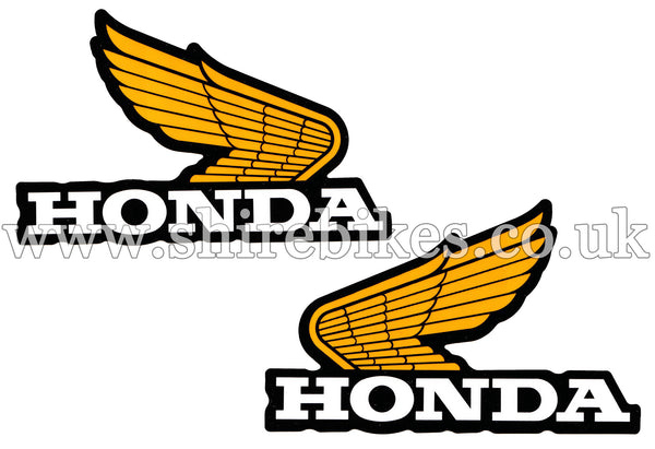 Honda Wing Tank Sticker Emblems (Pair) suitable for use with Z50R, Z50J