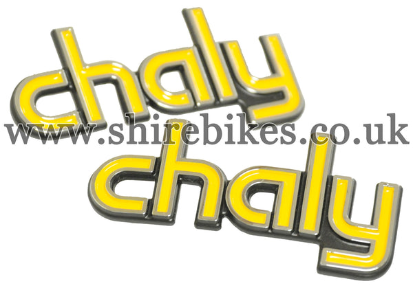 Honda Chaly Frame Badges (Pair) suitable for use with Chaly 6V