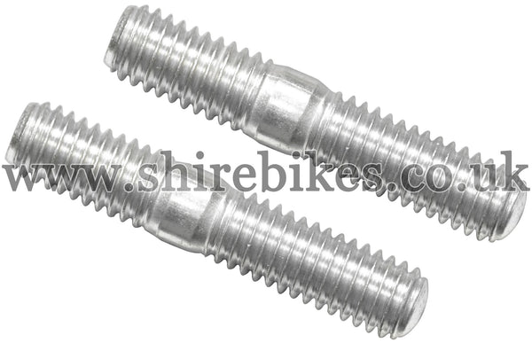 Honda Cylinder Head Exhaust Studs (Pair) suitable for use with CZ100, Z50M, Z50A, Z50J1, Z50R, Z50J, Dax 6V, Dax 12V, Chaly 6V, C90E