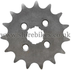 15T Front Sprocket suitable for use with CZ100, Z50M, Z50A, Z50J1, Z50R, Z50J, Dax 6V, Dax 12V, Chaly 6V, C90E