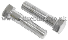 Honda Chrome Top Fork Bolts (Pair) suitable for use with Z50A, Dax 6V