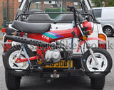 Vehicle Transport Rack for 10-inch Wheels (Zinc Plated) suitable for use with Monkey Bike, Dax, Chaly Motorcycles