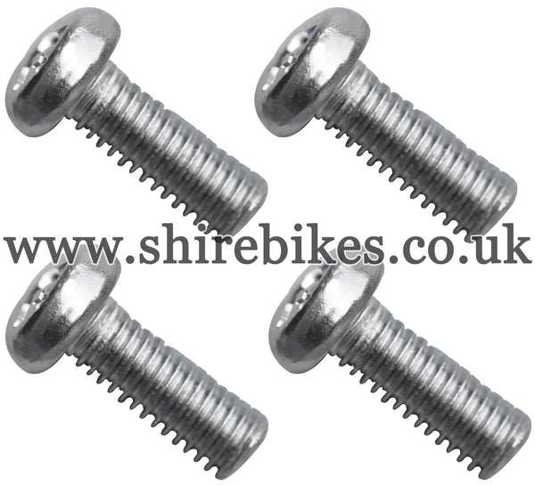 Honda Chrome Plated Tank Badge Screws (Set of 4) suitable for use with CZ100