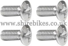 Honda Chrome Plated Tank Badge Screws (Set of 4) suitable for use with Z50M, Z50A